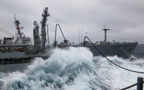 At Sea Replenishment With The USS Shiloh