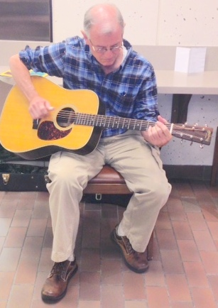 Instructor Jeff Broome performs.