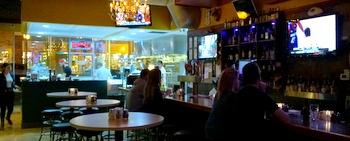 McKinners: Bright kitchen, dark bar for watching sports.