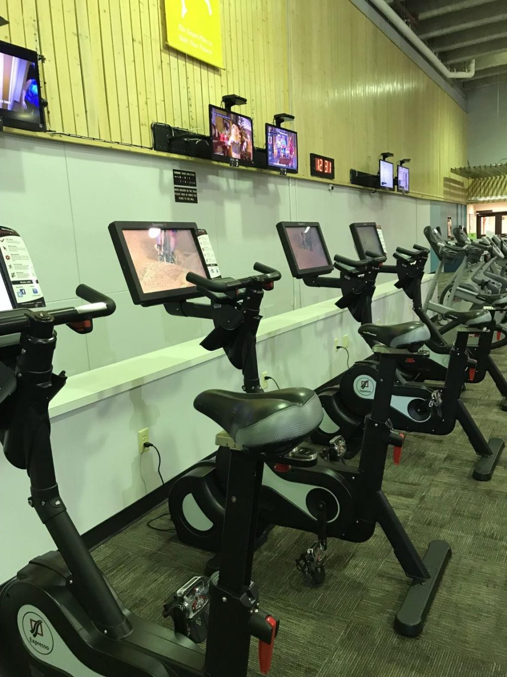 ACC Fitness Center Stationary Bicycles (image via Emily Langenberg)