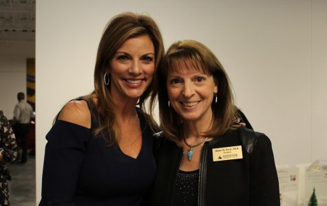 Libby Weaver, former Fox 31 news anchor and Dr. Diana Doyle, president of Arapahoe Community College spoke at the Grapes and Hops to Grads fundraiser on Wednesday, Nov. 8, 2017.