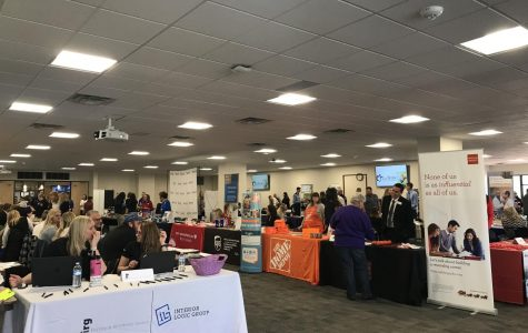 ACC held it's annual Career Fair in the Summit Room from 11 a.m. to 2 p.m. Wednesday, March 28, 2018. There were over 50 career choices offering connections with employers for future jobs and internships.