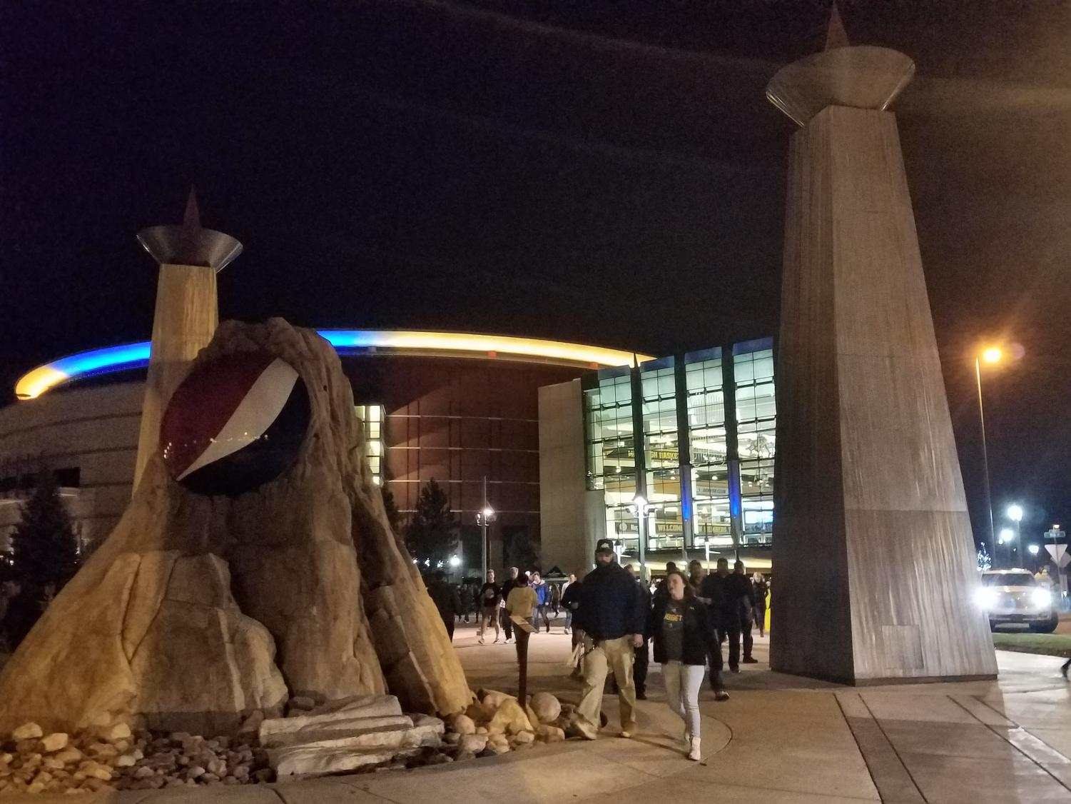 The Pepsi Center after the Denver Nuggets 88-82 win over the Portland Trail Blazers Monday, April 11, 2018 in Denver.