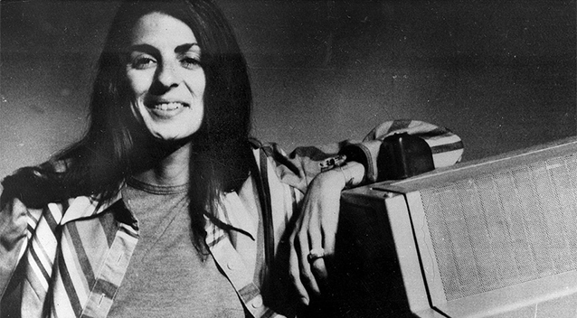 Christine Chubbuck at WXLT shortly before her suicide in 1974. (Photo Credit John Cloud).