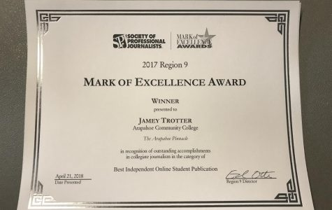 The Arapahoe Pinnacle wins Best Independent Online Student Publication from SPJ