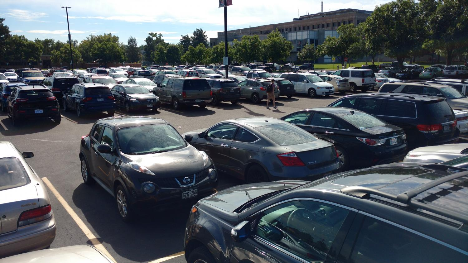 ACC's Parking Lot A  completely full at 10:00 am