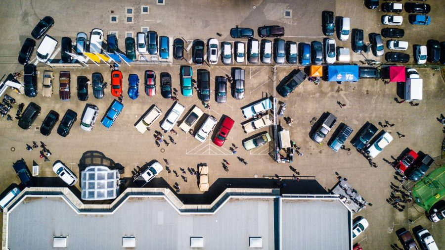 Stock phto of a crowded parking lot
