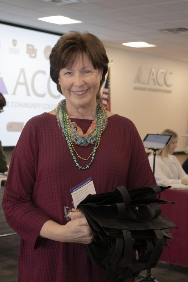 Nancy Carlson, took a quick moment to tell us why she thinks it's important to consider transferring, Tuesday, Feb 26, 2019. She is now helping out with special projects at ACC since August of this year.