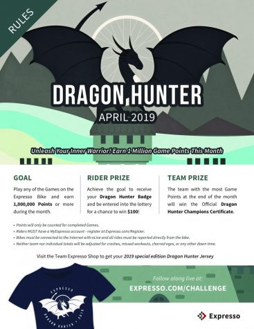 Compete in the April Dragon Hunter Contest at ACC's Fitness Center