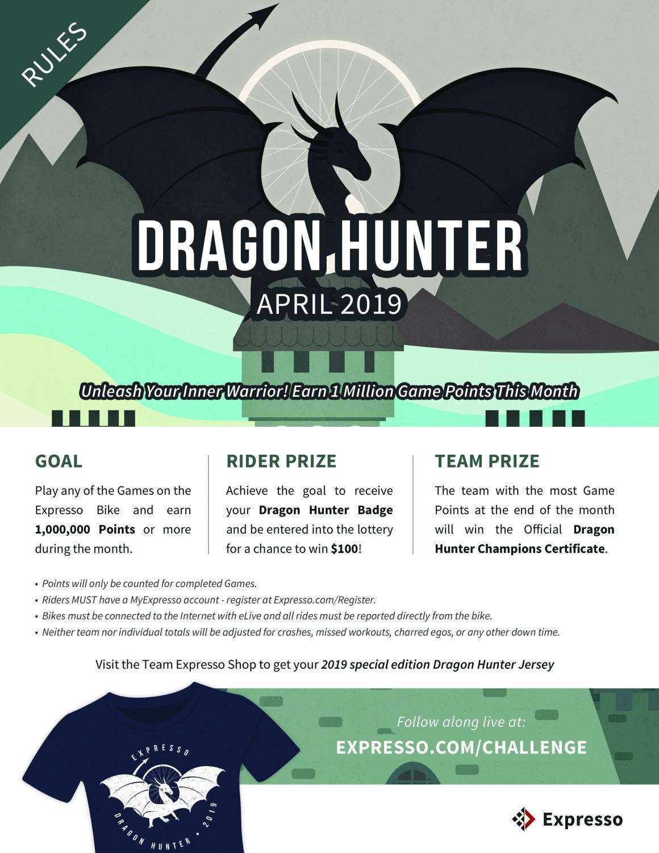 Dragon Hunter's April contest promo poster. (via Expresso.com)
