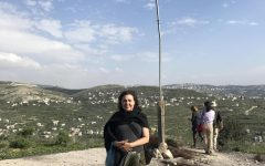 Jewish Voice for Peace member Osie Adelfang hiking through Palestine in April 2017.