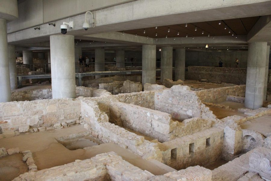 One of the many neighborhoods discovered underneath the Acropolis Museum in Athens, Greece. It's estimated that residents lived in the communities for around 2,000 years. Photo taken on Monday, June 24, 2019.