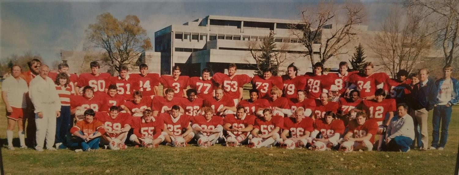 The ACC Knights 1988 football team. The team lasted between 1988-1991. (via ACC Archives)