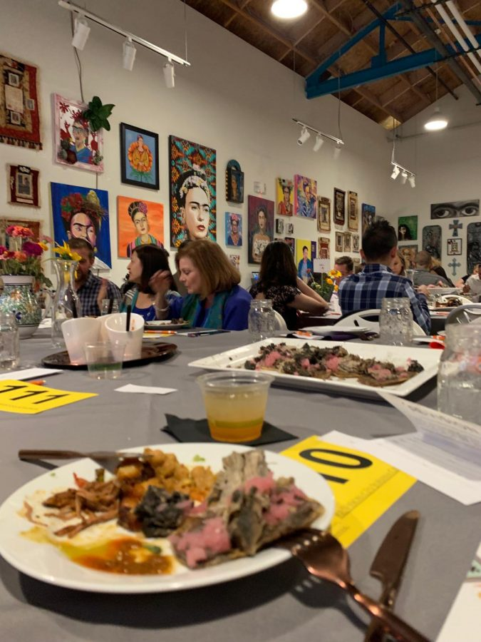 A spread of community grown delicacies at ReVision's Buen Provecho dinner in WestWood, Colo. on Saturday, Sept. 21, 2019.