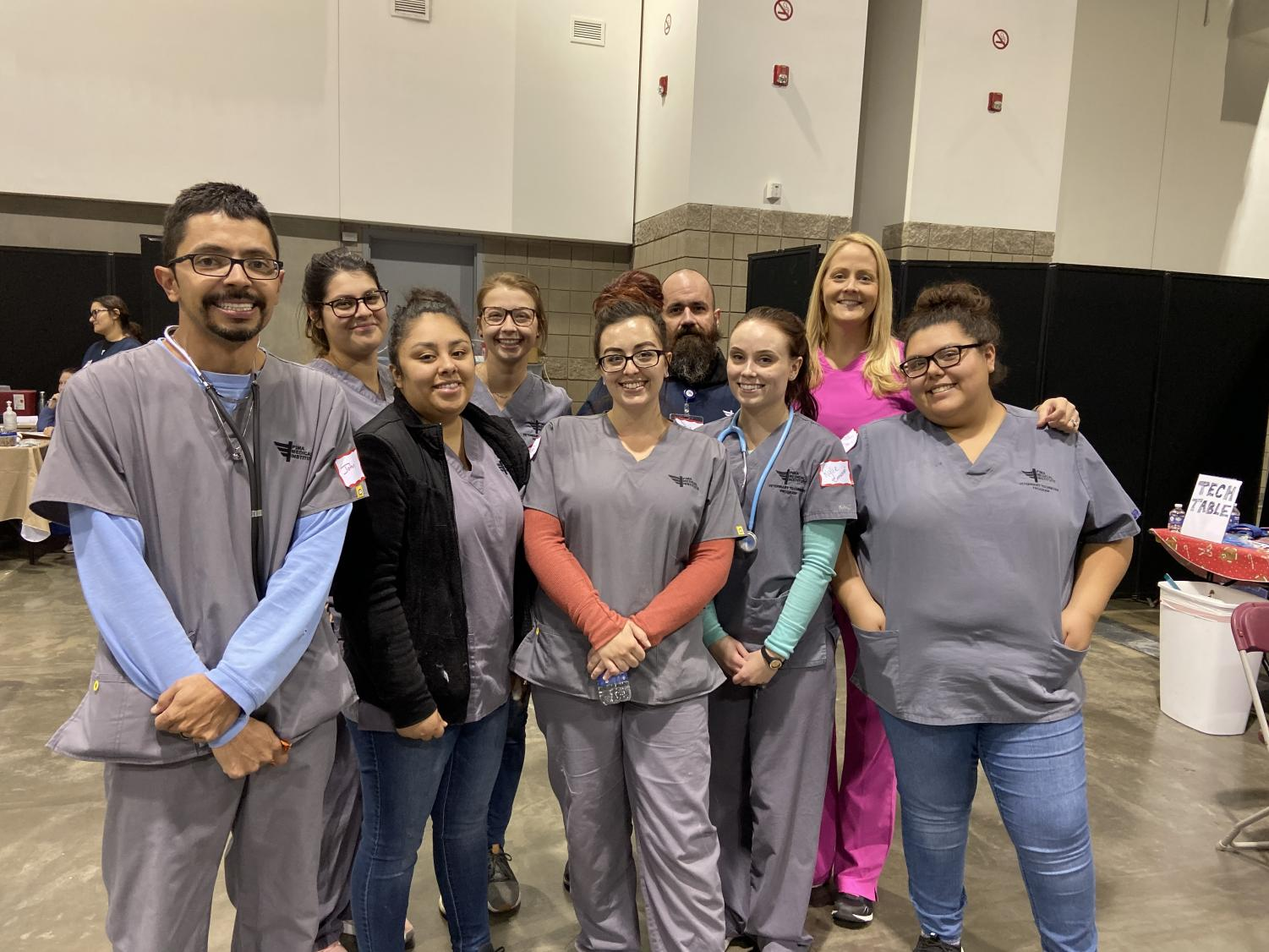 Pima Medical Institute Students at the Project Homeless Connect event located in the Colorado Convention Center in Denver, Colo. on Oct. 10, 2019.