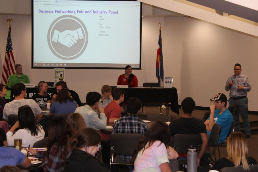 Representatives of different local businesses give advice on how to successfully land a good job after college on Wednesday, Oct., 9, 2019.