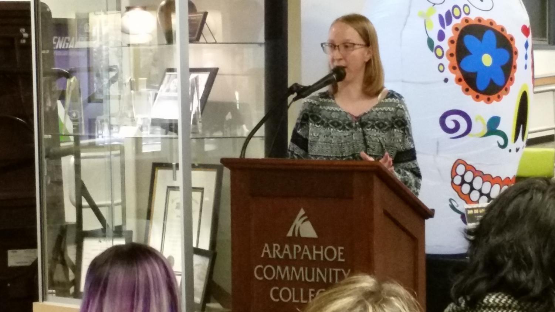 Mckenzie Marner reading her award winning story,