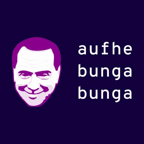 Logo for the global politics podcast, Aufhebunga Bunga.