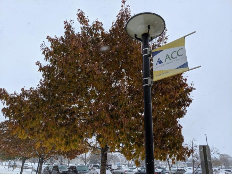 Trees got some snow around ACC on Monday, Oct. 28th, 2019.