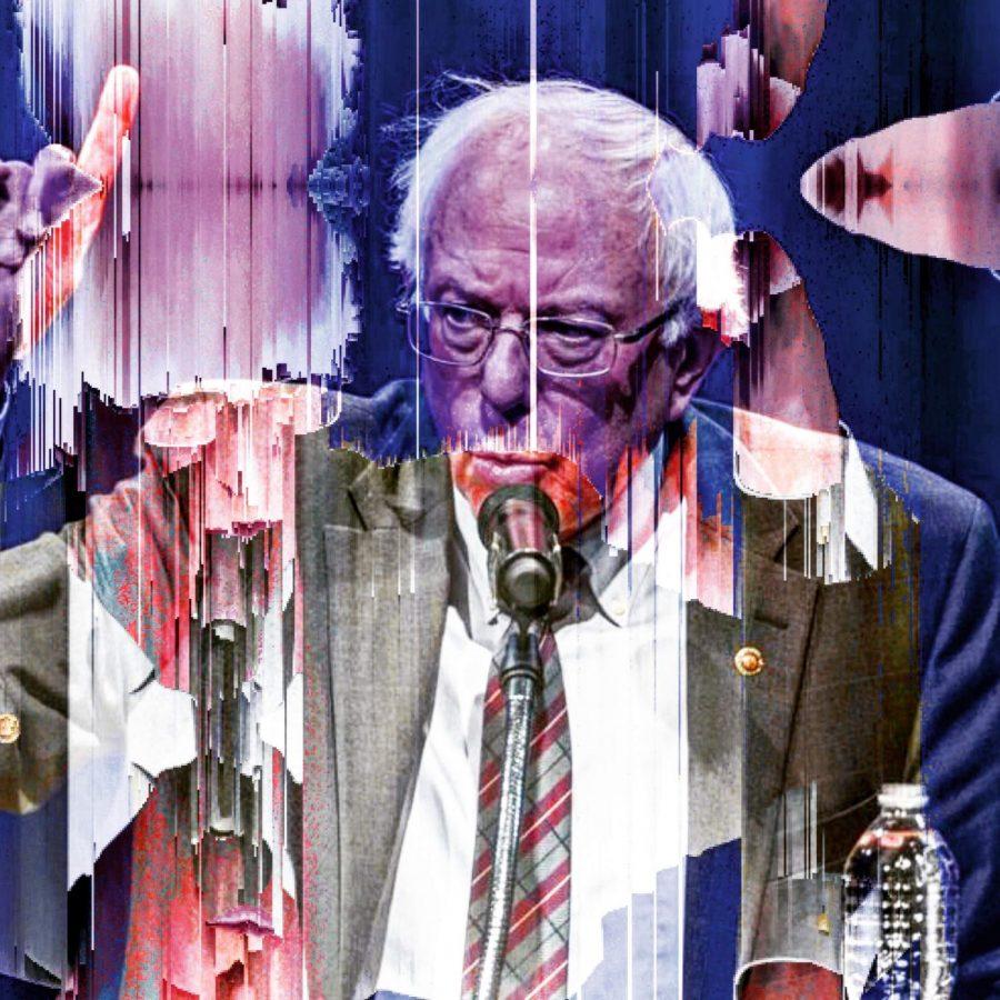 Collage of Bernie Sanders, courtesy of the artist, Dirt: Son of Earth, @art.o.dirt on Instagram.
