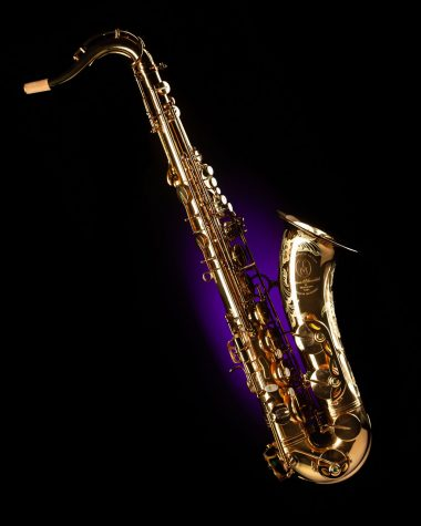 A Stock image of a saxophone. This instrument t is synonymous withthe genre of music known as jazz