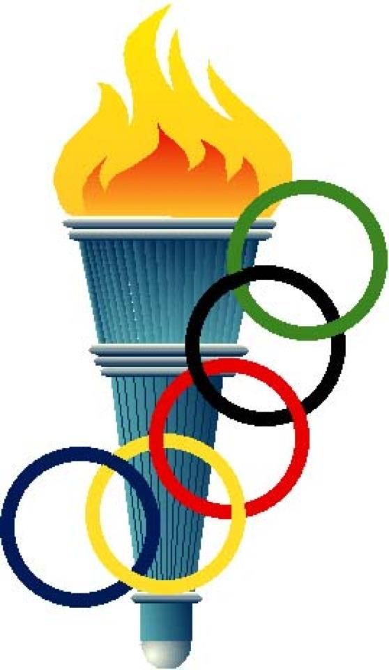 A stock photo of the Olympic torch. the rings around the flame represent the Olympic symbol.