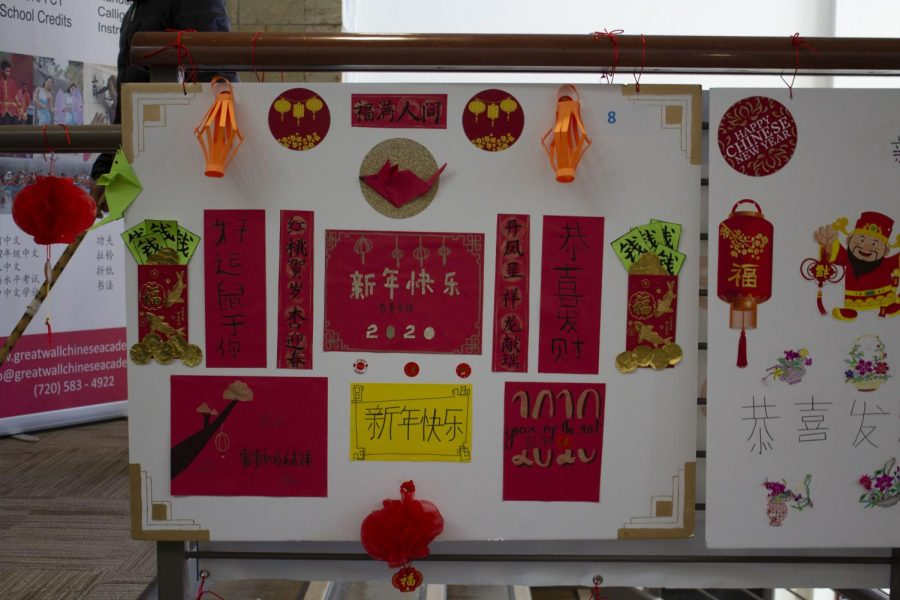 Posters+hung+up+the+Great+Wall+Chinese+Academy+on+January+25%2C+2020.+Students+worked+on+these+posters+to+celebrate+the+Chinese+New+Year.