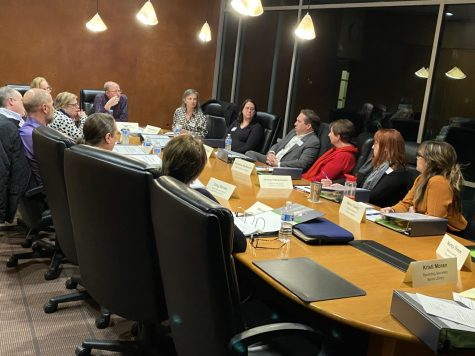 Littleton Members gathered around a table on Feb. 13, 2020. First meeting held to talk about the newly formed Littleton Arts & Culture Commission.