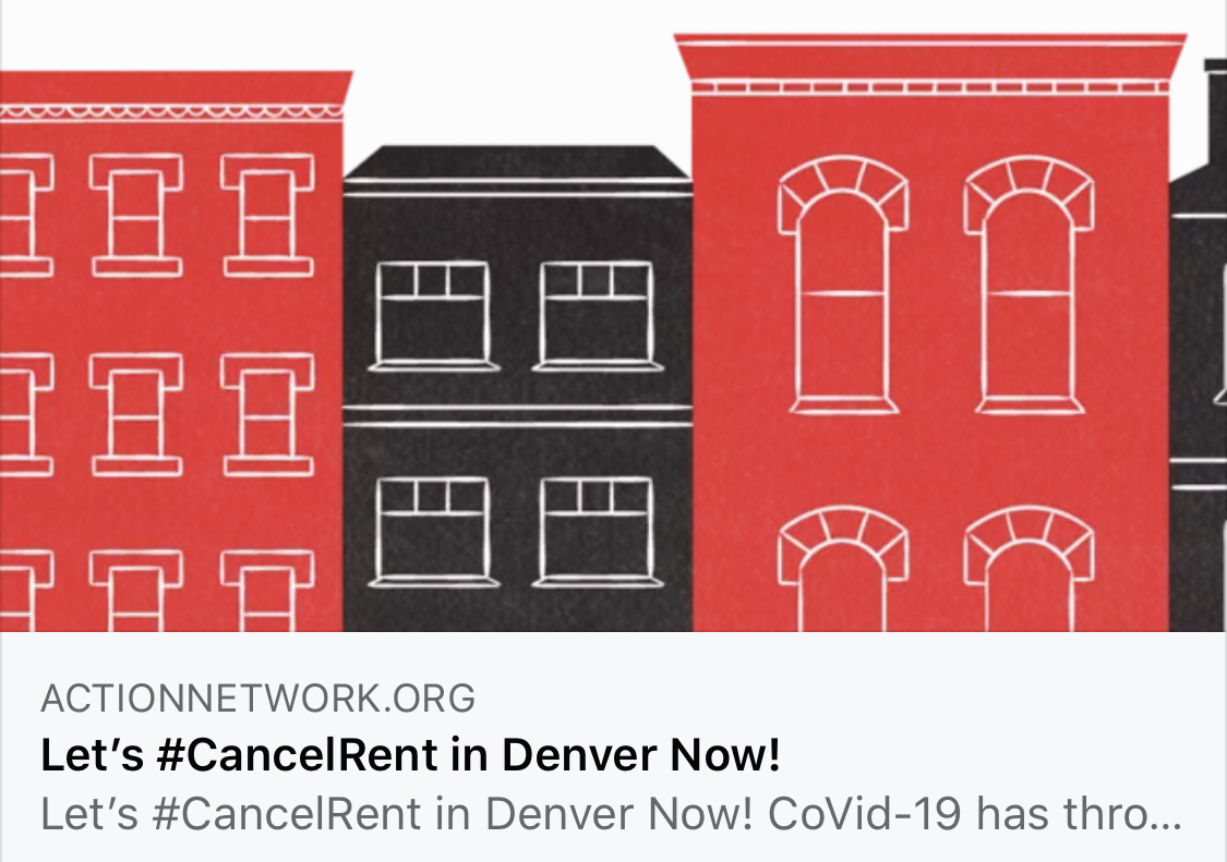 Denver Democratic Socialists of America Call to #CancelRent