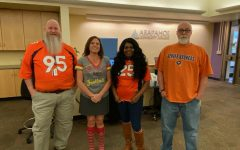 Pictured are ACC Record and Enrollment Services staff , Bill Collins, Darcy Briggs, Christie Piggee-Howell, and Doug MacDougall (L-R). Photo via Darcy Briggs
