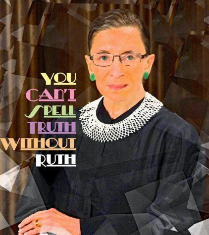 A poster for Ruth Bader Ginsburg.