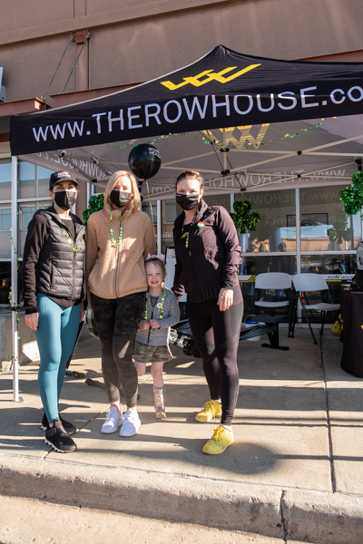The ladies from The Row House showing their support for the 5k run.