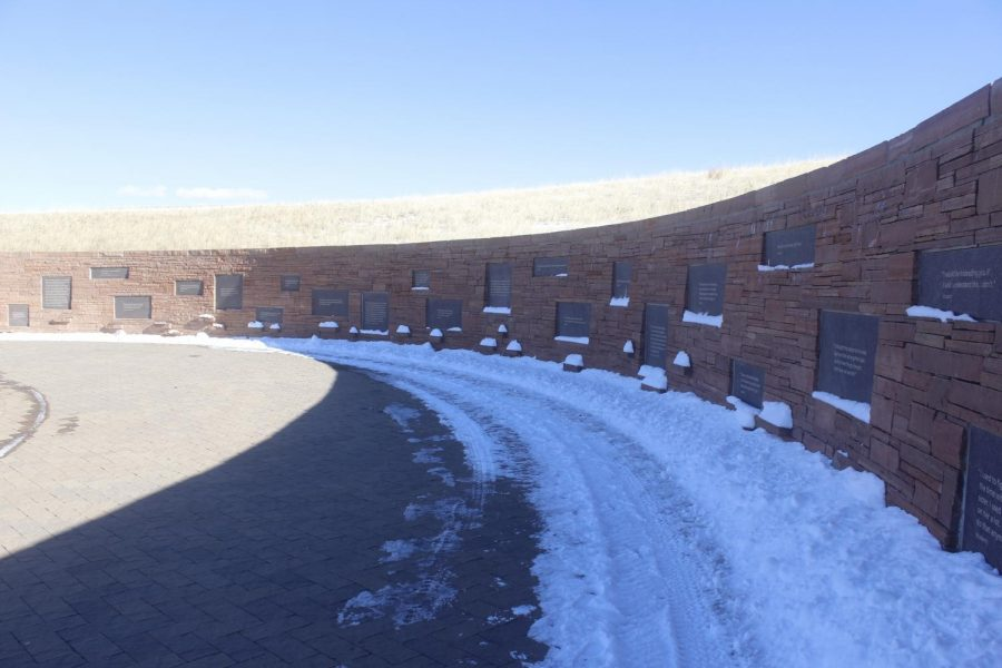 The Wall of Healing at the Columbine Memorial on 22FEB2021