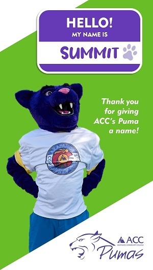 ACC Students have finally given the Puma a name!