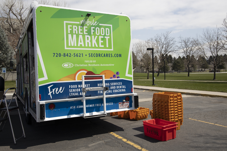 Secor Cares Mobile Food Truck sits in the ACC parking lot. April 14th, 2021.