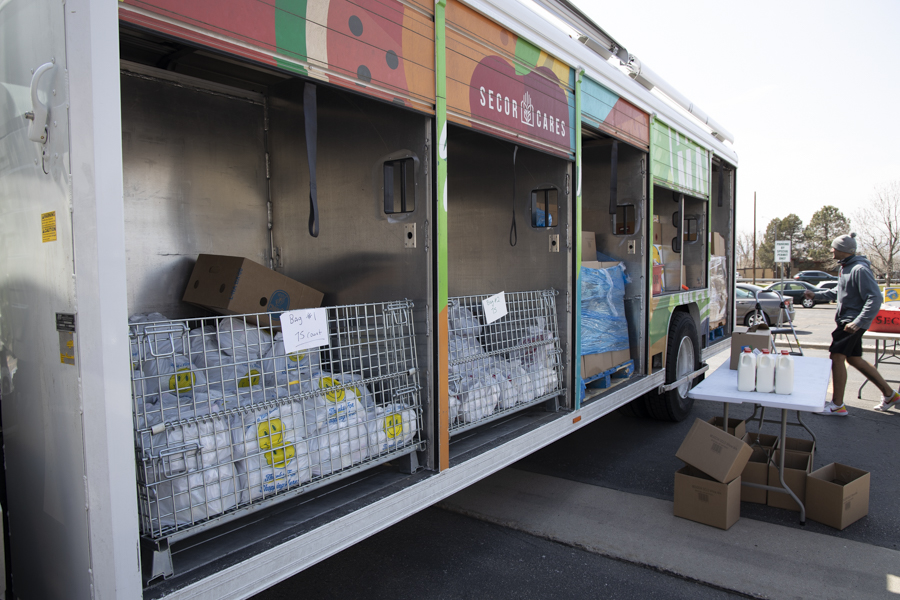 Secor Cares Mobile Food Truck sits in the ACC parking lot. April 14, 2021.